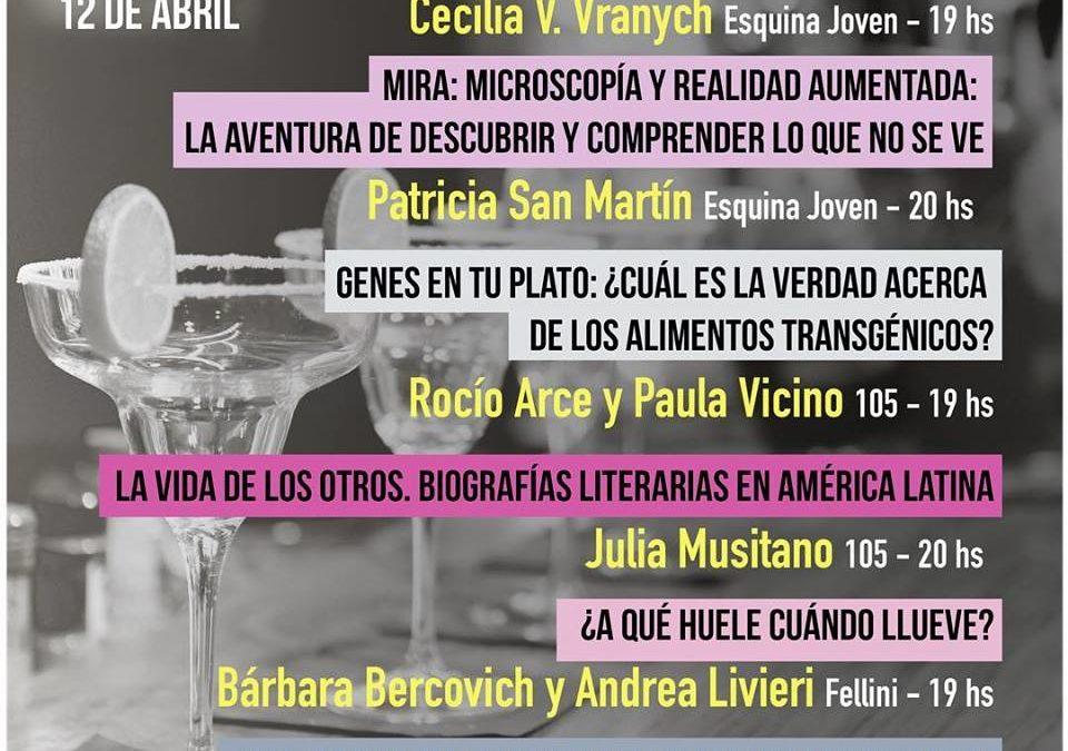 El 12 de abril hay 6 charlas en Esquina Joven, Fellini y 105. Elegí la que más te guste y reservá tu lugar en cada bar.